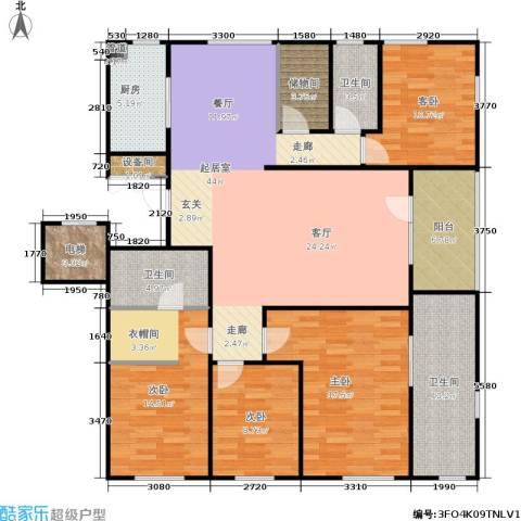 朗诗国际街区4室0厅3卫1厨150.00㎡户型图