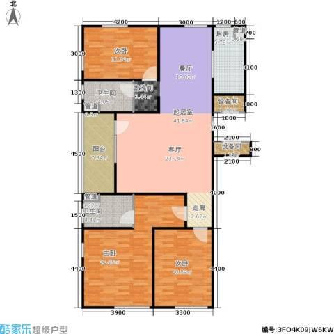 朗诗国际街区3室0厅2卫1厨113.64㎡户型图