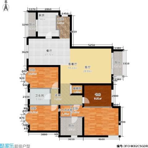 城建花园4室1厅1卫1厨188.00㎡户型图