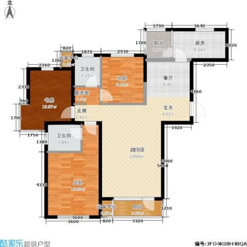 格林春晓3室0厅2卫1厨134.00㎡户型图