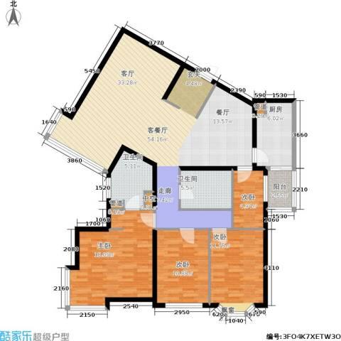 城建花园4室1厅2卫1厨169.00㎡户型图