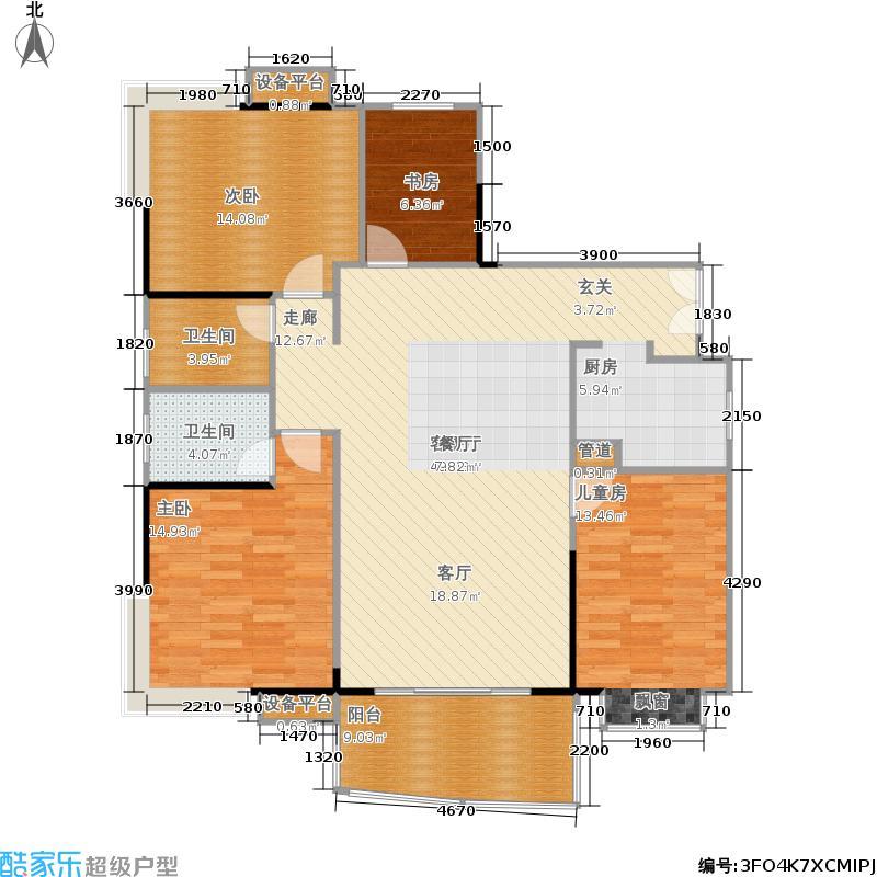 上东辛顿公寓140.83㎡2-5栋A2户型