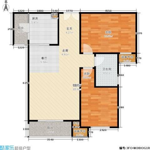 阳光新城三期2室1厅1卫1厨100.00㎡户型图