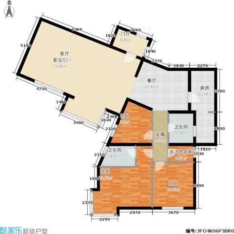 城建花园3室1厅2卫1厨202.00㎡户型图