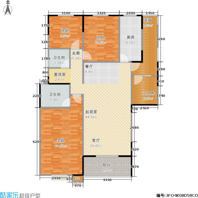 银海领域户型3室2卫1厨