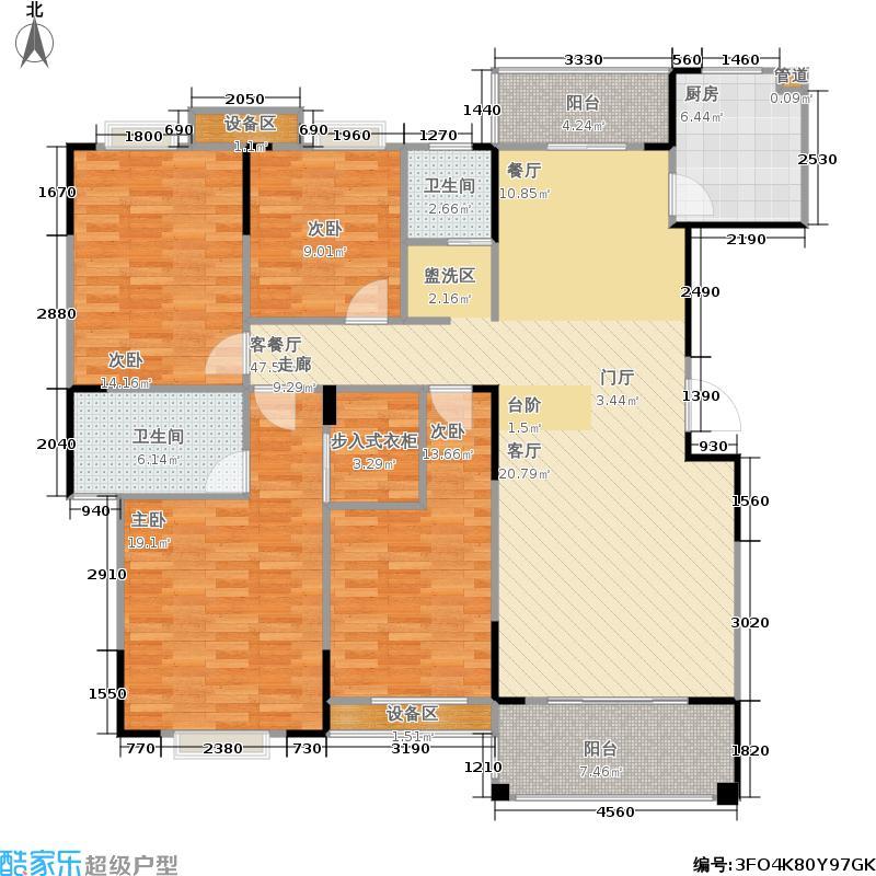 博雅上院163.70㎡三期7栋户型
