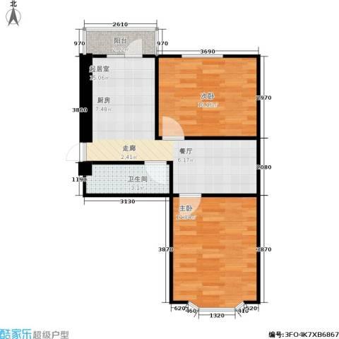 美丽人家2室0厅1卫0厨59.00㎡户型图