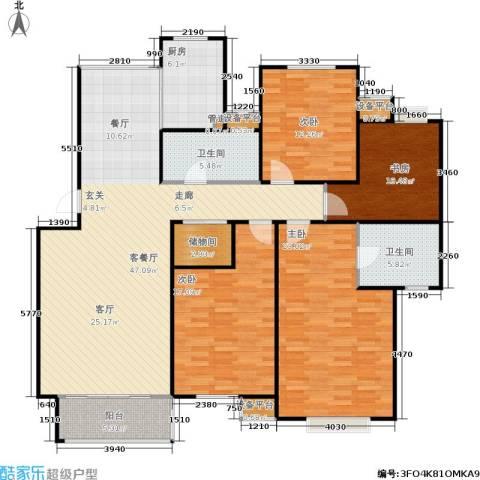 名园臻舍4室1厅2卫1厨148.00㎡户型图