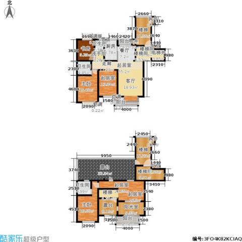新洲上海花园浦江苑3室0厅3卫1厨243.03㎡户型图