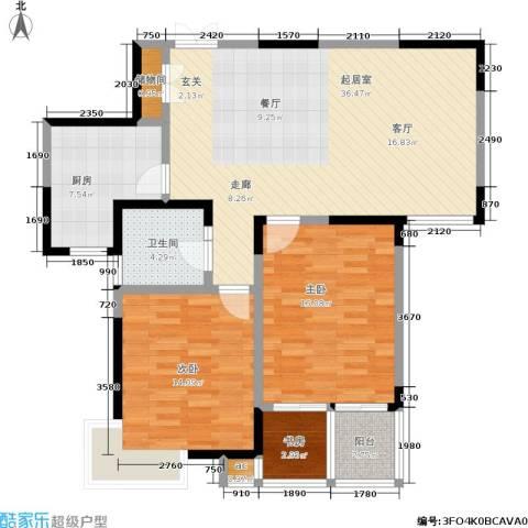 银城西堤国际3室0厅1卫1厨101.00㎡户型图