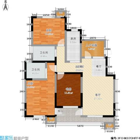 横塘西苑3室0厅2卫1厨139.00㎡户型图