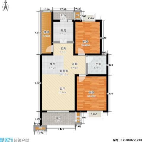 月苑五村2室0厅1卫1厨85.00㎡户型图