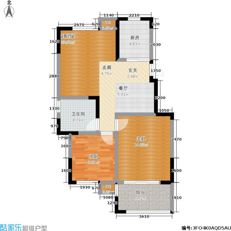 横塘西苑户型2室1卫1厨