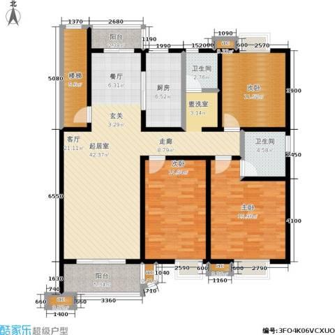 月苑五村3室0厅2卫1厨130.00㎡户型图