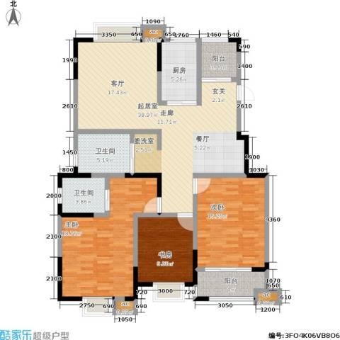横塘西苑3室0厅2卫1厨151.00㎡户型图