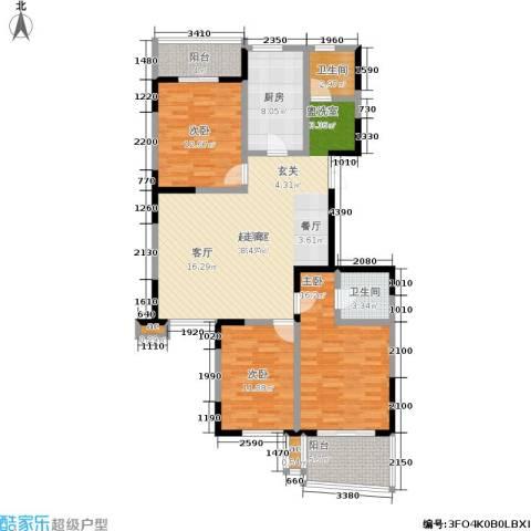 天安.恒隆花园3室0厅2卫1厨122.00㎡户型图
