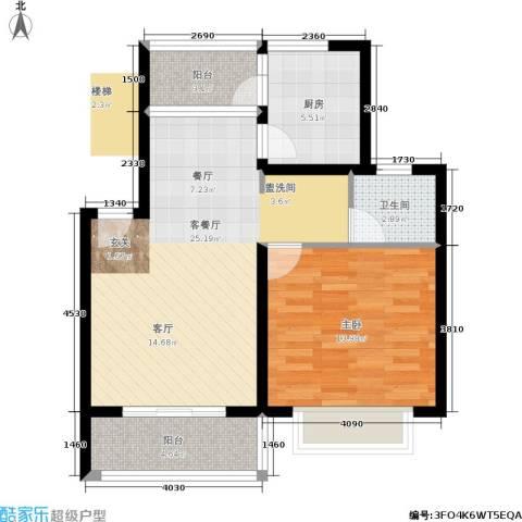 东兰兴城惠兰苑1室1厅1卫1厨80.00㎡户型图
