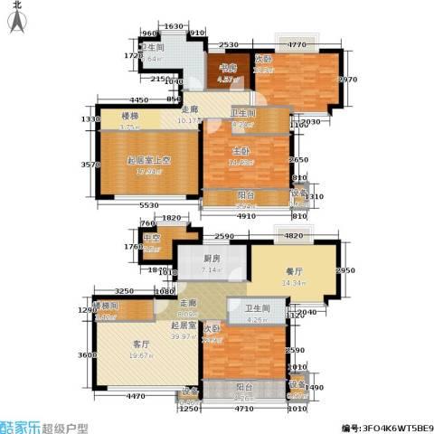 东兰兴城惠兰苑4室0厅3卫1厨219.00㎡户型图