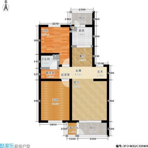 明颂华庭2室0厅1卫1厨64.15㎡户型图