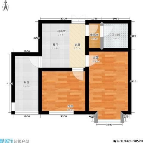 阳光维也纳2室0厅1卫1厨44.00㎡户型图