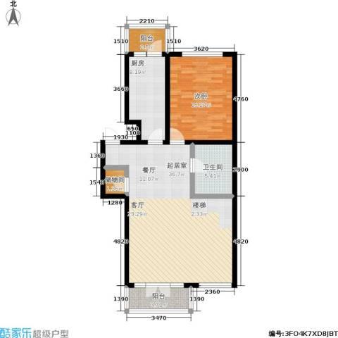 银河小区1室0厅1卫1厨105.00㎡户型图