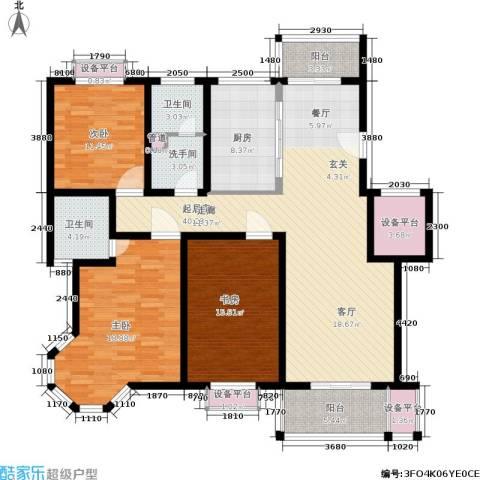 锦悦苑3室0厅2卫1厨140.00㎡户型图