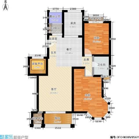 锦悦苑2室0厅1卫1厨101.00㎡户型图