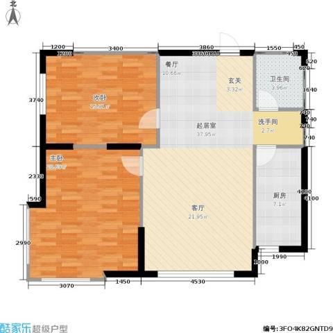 南石源居2室0厅1卫1厨116.00㎡户型图