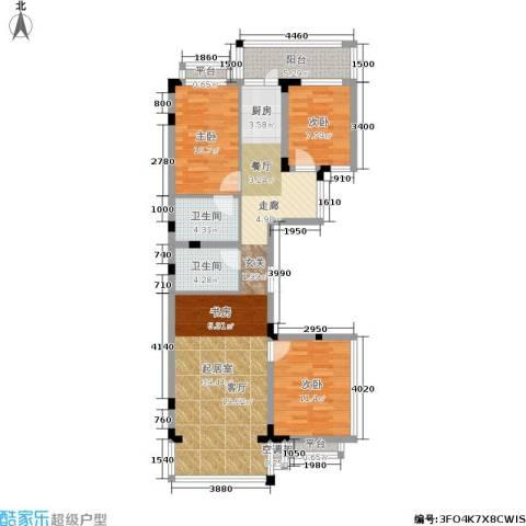 文苑小区3室0厅2卫0厨94.00㎡户型图