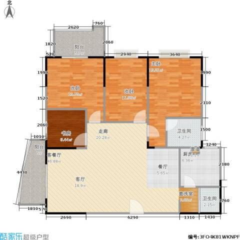 百盛・天心华庭4室1厅2卫1厨163.00㎡户型图