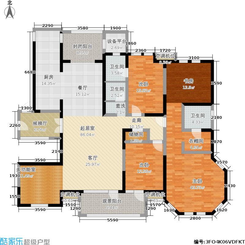 国际城国际城城市之心215.22㎡65号楼a-2户型