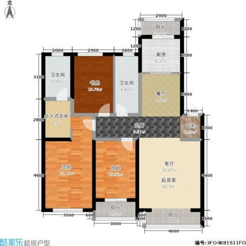 纳帕阳光3室0厅2卫1厨158.00㎡户型图