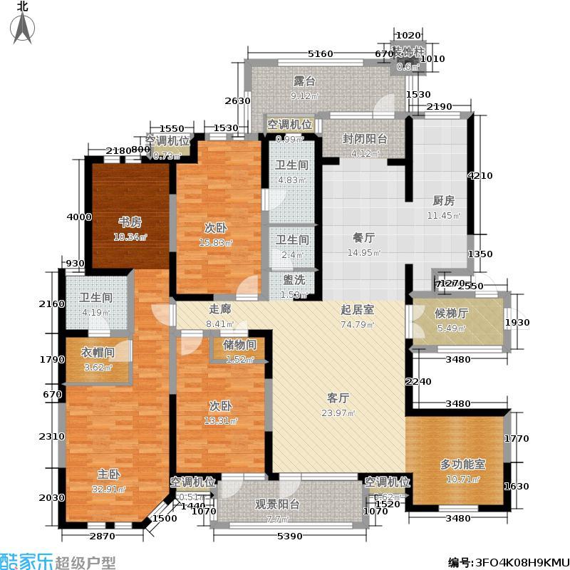 国际城国际城城市之心198.89㎡65号楼b-4户型