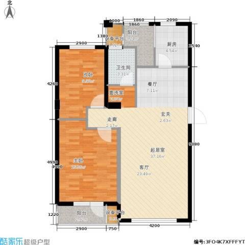 格林春晓2室0厅1卫1厨110.00㎡户型图