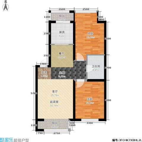 纳帕阳光2室0厅1卫1厨98.00㎡户型图