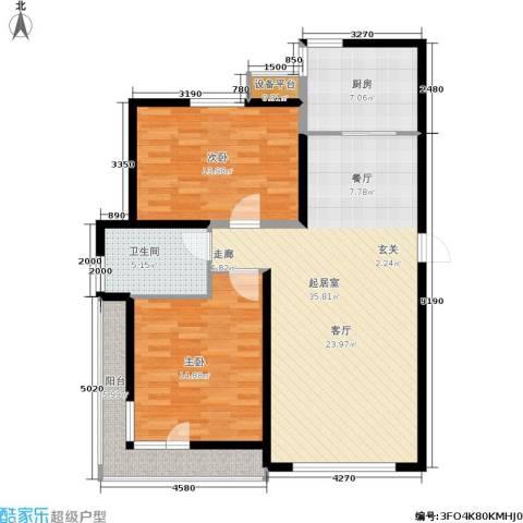 格林春晓2室0厅1卫1厨117.00㎡户型图