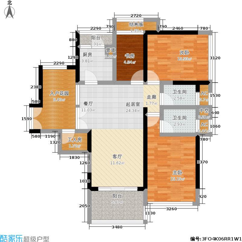 中旅国际公馆二期100.00㎡房型户型