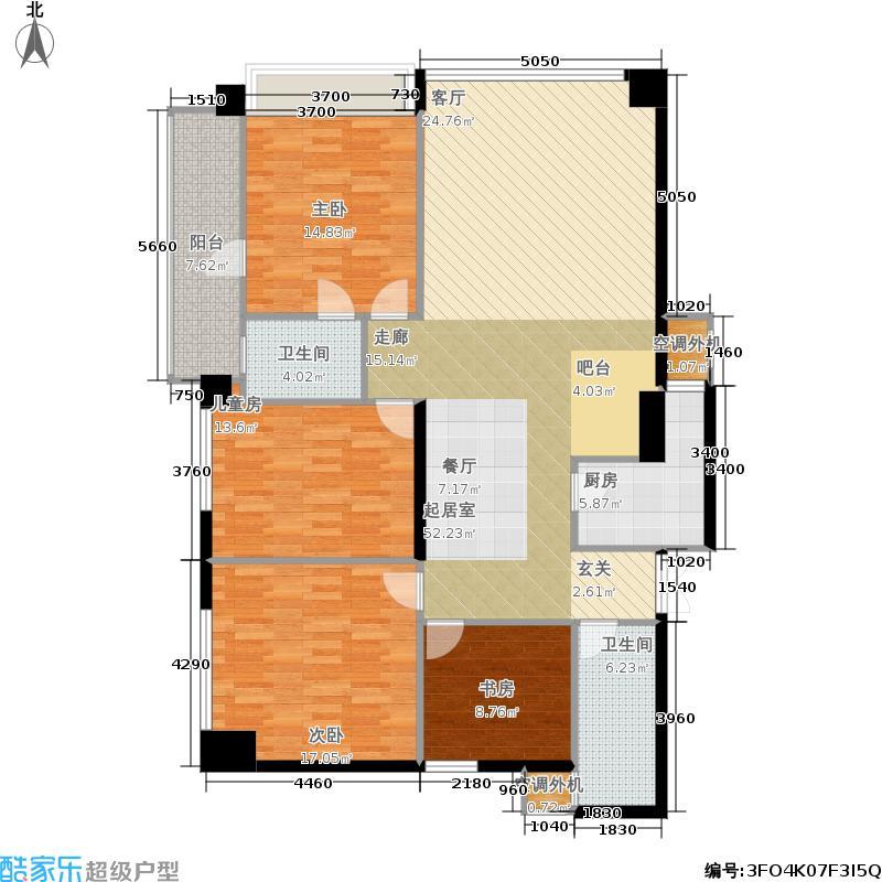 银联中央融都公寓158.00㎡(北)户型