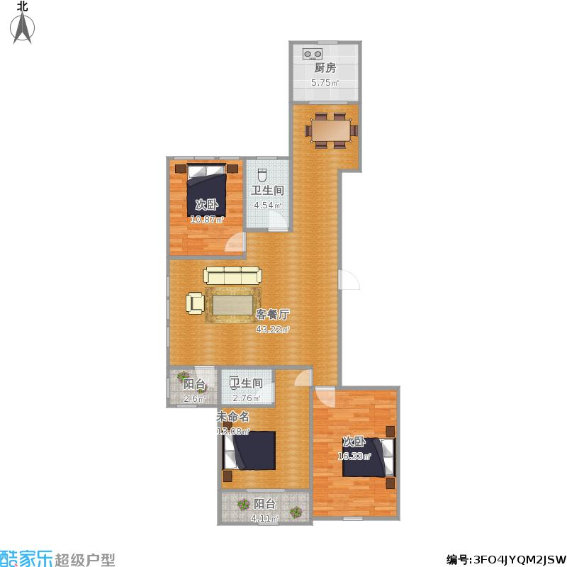 D2三室两厅两卫
