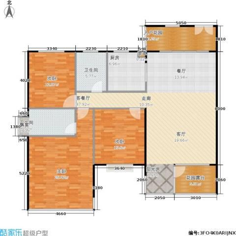阳光新城三期3室1厅2卫1厨178.00㎡户型图