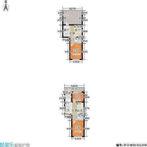 上城俪园3室0厅2卫1厨102.09㎡户型图