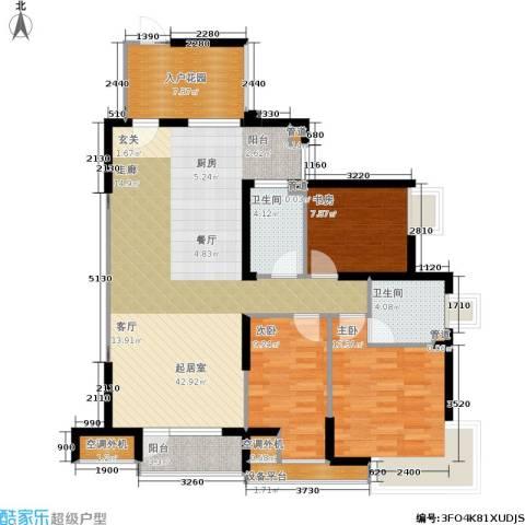格林生活坊一期3室0厅2卫0厨135.00㎡户型图