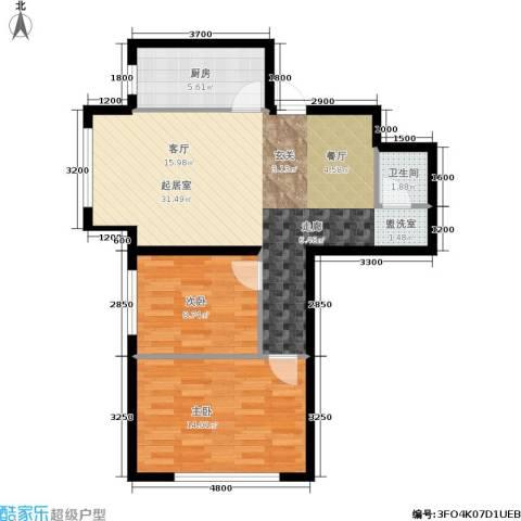 纳帕阳光2室0厅1卫1厨82.00㎡户型图