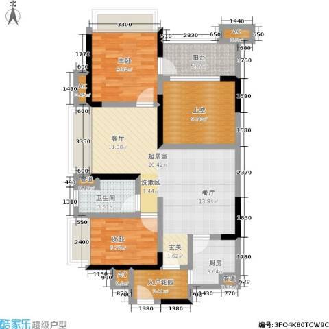 万科金域华府2室0厅1卫1厨105.00㎡户型图