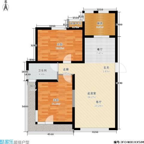 格林春晓2室0厅1卫1厨113.00㎡户型图