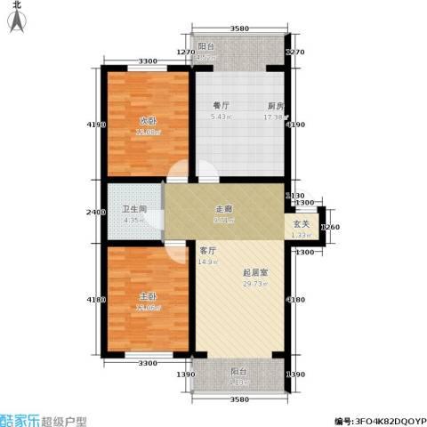 城建梦翔之家2室0厅1卫1厨107.00㎡户型图