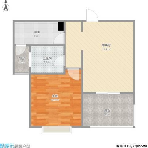 明天华城1室1厅1卫1厨67.00㎡户型图