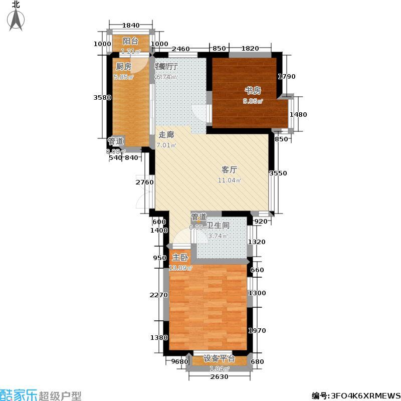 东海云天GF1二室户型