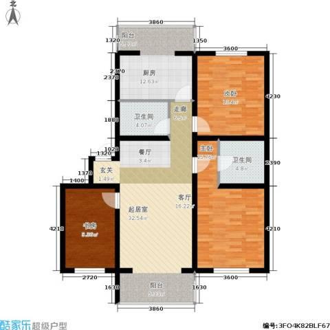 城建梦翔之家3室0厅2卫1厨132.00㎡户型图