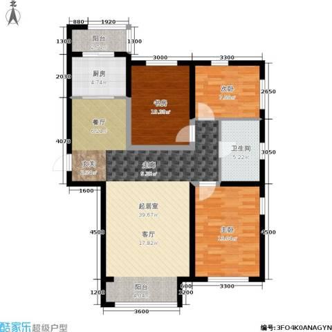 纳帕阳光3室0厅1卫1厨114.00㎡户型图